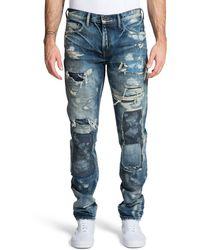 PRPS Le Sabre Destroyed Slim Fit Jeans - Blue