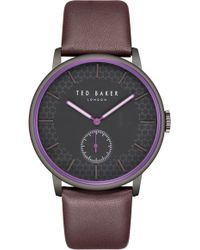 Ted Baker - James Leather Strap Watch - Lyst