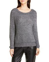 Seventy Shaker Stitch Sweater - Gray