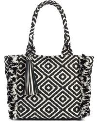 Rebecca Minkoff - Fringed Woven Tote - Lyst