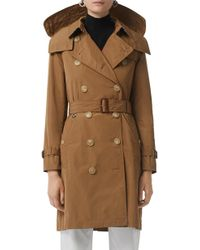 Burberry - Kensington Trench Coat With Detachable Hood - Lyst