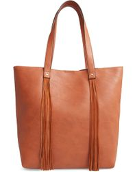 Sole Society Dunne Faux Leather Tote - Brown