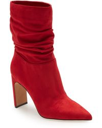 Jessica Simpson Brixen Pointed Toe Bootie - Red