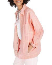 Madewell - Pink Denim Chore Coat - Lyst