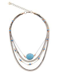 Nakamol - Short Multilayer Howlite & Agate Necklace - Lyst