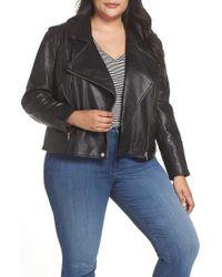 Sejour - Leather Moto Jacket - Lyst