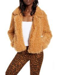 Blank NYC - Faux Fur Teddy Coat - Lyst