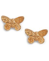 df3d8f8d1 Kate Spade Social Butterfly Linear Earrings in Metallic - Lyst