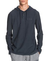 Quiksilver Kentin Henley Pullover Hoodie - Multicolour