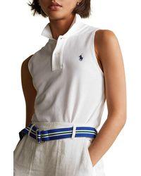 Polo Ralph Lauren Classic Sleeveless Polo Shirt - White