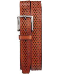 Cole Haan - Washington Grand Perforated Leather Belt - Lyst