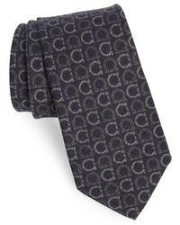 Ferragamo - Ibis Gancini Print Wool & Yak Tie - Lyst