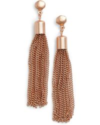 Karine Sultan - Tassel Drop Earrings - Lyst