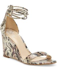 Vince Camuto Stassia Wraparound Wedge Sandal - Brown