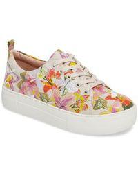J/Slides - Appy Embroidered Platform Sneaker - Lyst