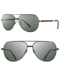 Shwood | 'redmond' 58mm Titanium & Wood Sunglasses | Lyst