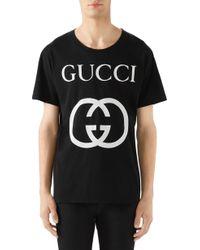 ba189da71eb Lyst - Gucci T-shirt Men in Pink for Men