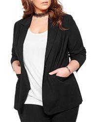 Michel Studio Notch Collar Jacket - Black