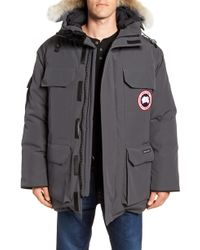 Canada Goose Pbi Expedition Regular Fit Down Parka With Genuine Coyote Fur Trim - Gray