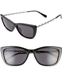 ebec1de4cfa6 COACH 56mm Square Sunglasses in Black - Lyst