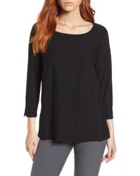 Eileen Fisher - Boxy Jersey Top - Lyst
