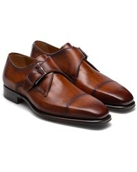 Magnanni Lennon Monk Strap Shoe - Brown