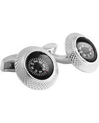 "Tateossian ""mechanical"" Black Compass Cufflinks - Metallic"