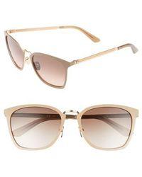 CALVIN KLEIN 205W39NYC - 54mm Square Sunglasses - Tan - Lyst