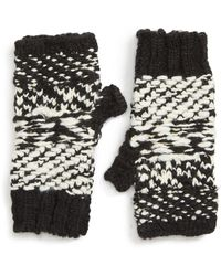 Free People Keep Cozy Knit Fingerless Gloves - Black