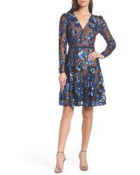 9b6f3e4e698 Lyst - Seraphine Sapphire Silk Maternity Cocktail Dress in Blue