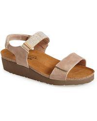 Naot Lisa Crystal-Embellished Sandals - Natural