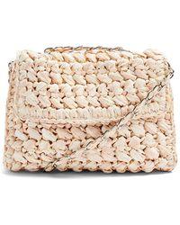 TOPSHOP Fiji Woven Straw Shoulder Bag - Natural