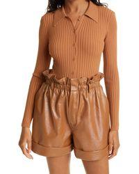 Ronny Kobo Cyndie Knit Bodysuit - Brown