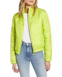 Tinsel Neon Puffer Jacket - Green