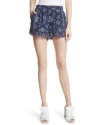 Joie - Ciri Floral Silk Shorts - Lyst