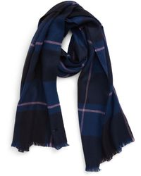 Ted Baker Check Scarf - Blue