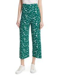 Maje - Floral Print Crop Pants - Lyst