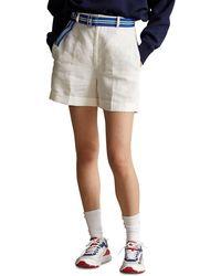 Polo Ralph Lauren Lyda Tailored Linen Shorts - Multicolor