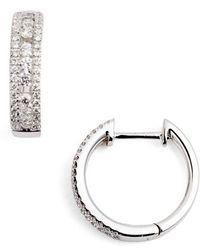 Bony Levy - Amara Small Diamond Hoop Earrings (nordstrom Exclusive) - Lyst