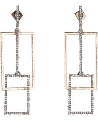 Alexis Bittar - Linked Crystal Rectangles Post Earrings - Lyst