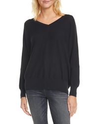 Ba&sh Elsy V-neck Open Back Sweater - Black