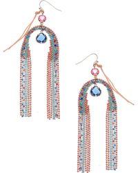 Nakamol Beaded Teardrop Pendant Earrings - Blue