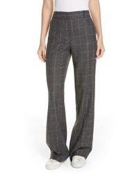 Equipment - Hagan Plaid High Waist Trousers - Lyst