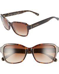 afc797a08153 COACH Women's Signature Sunglasses in Black - Lyst