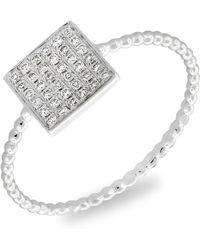 Bony Levy - Aurora Diamond Pavé Square Ring (nordstrom Exclusive) - Lyst