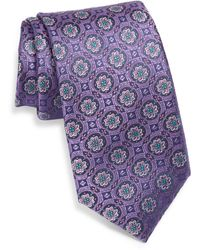 Ted Baker Floral Medallion Silk Tie - Purple