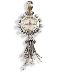 Konstantino - Mother-of-pearl Cross Enhancer - Lyst