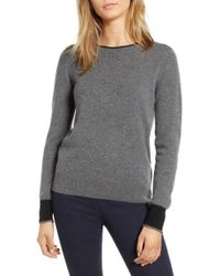 Nordstrom - 1901 Cashmere Crewneck Sweater - Lyst