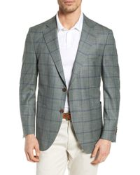 Peter Millar Hyperlight Classic Fit Plaid Sport Coat - Green