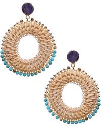 Nakamol - Woven Circle Earrings - Lyst